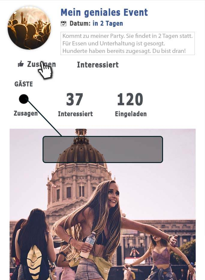 facebook event zusagen kauf, followhero, follow hero